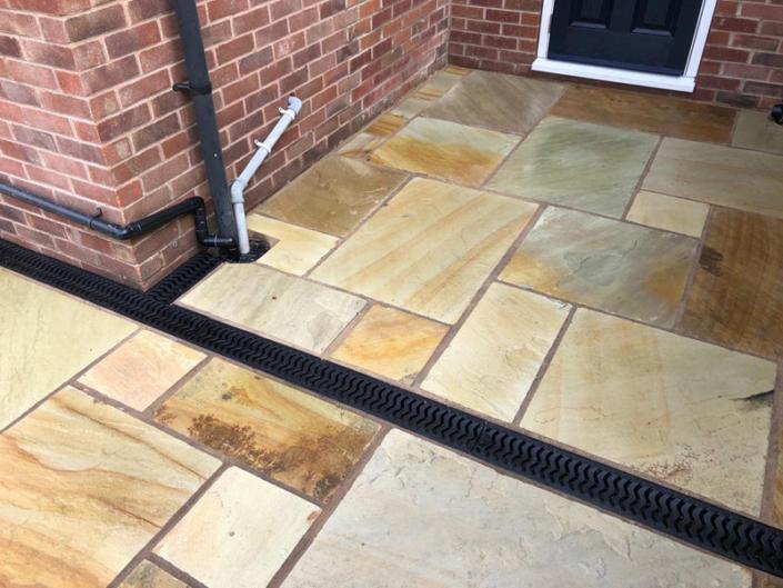 Sandstone patio in Edgbaston