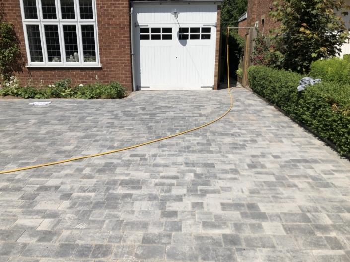 block paving driveway in Warwick